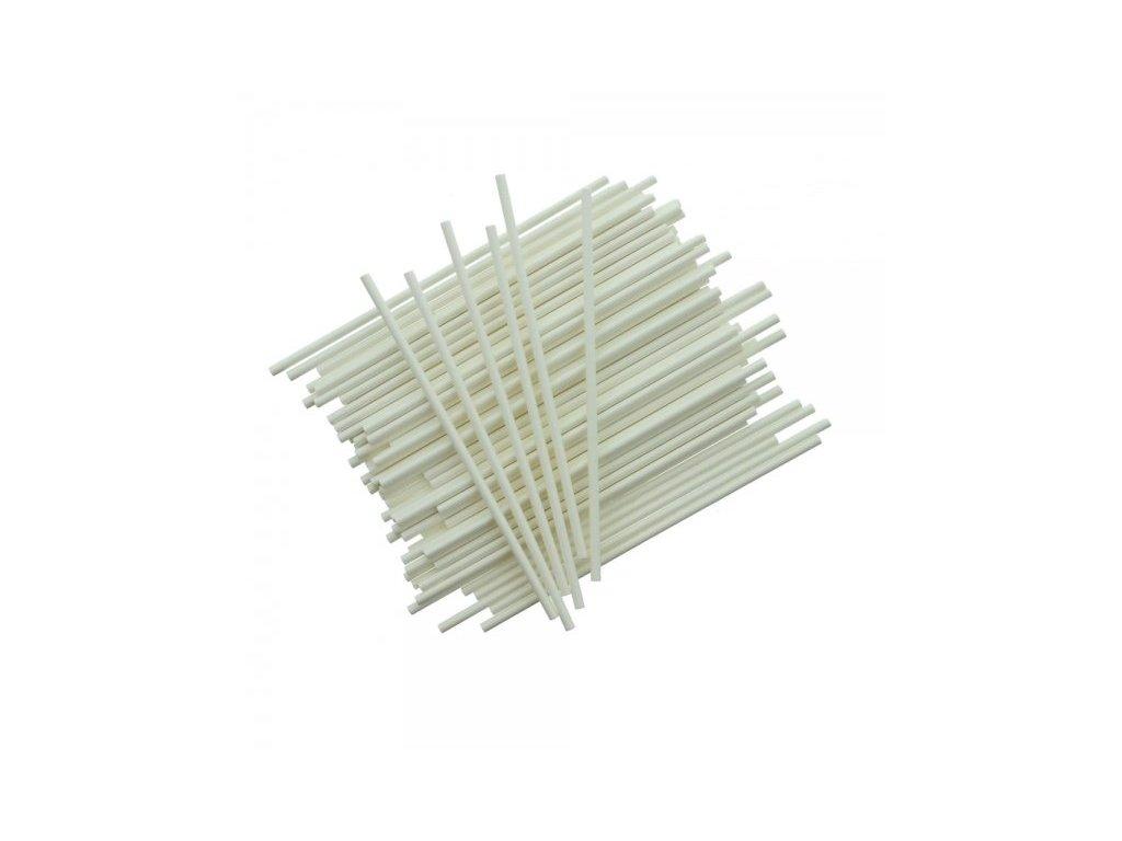 Papírové tyčinky bílé 15cm, 25ks,