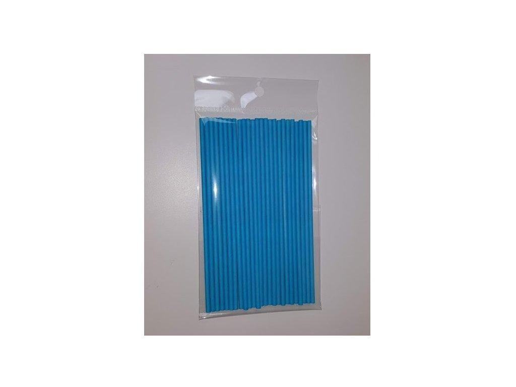 Papírové tyčinky, 15cm, 25ks, modré