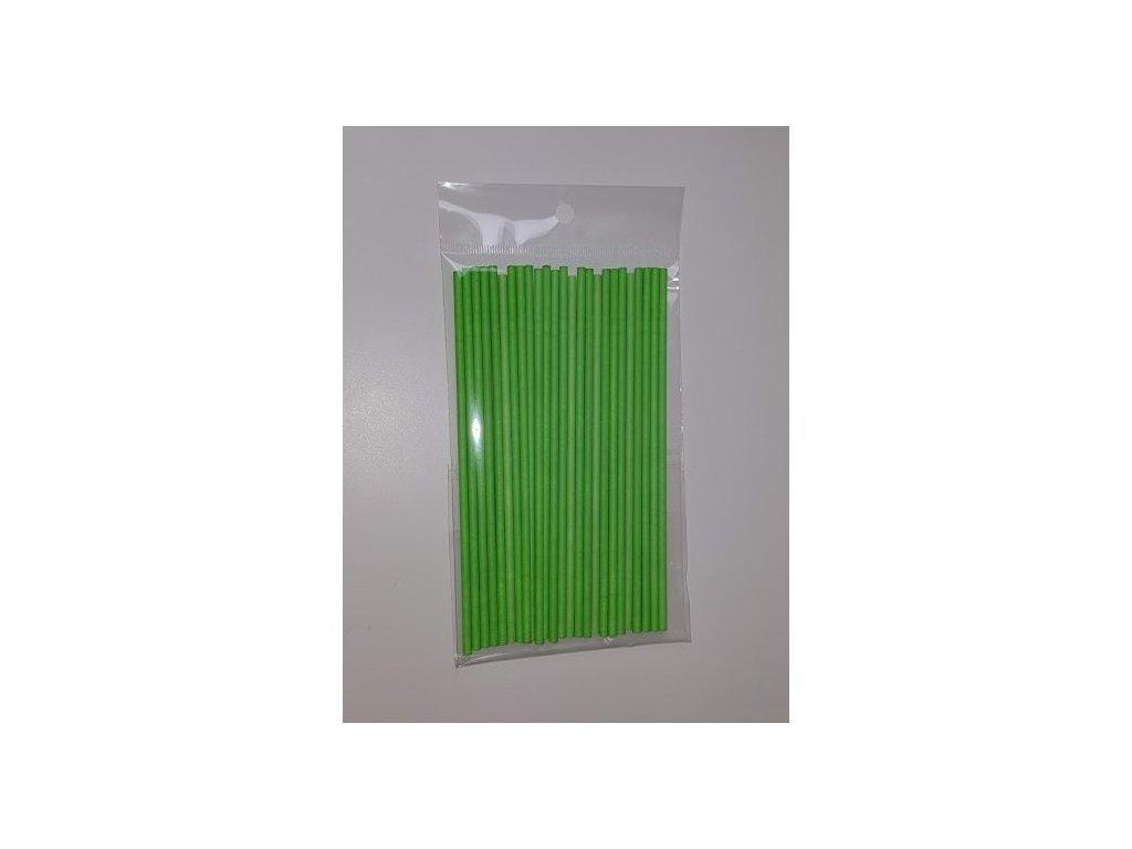 Papírové tyčinky, 15cm, 25ks, zelené
