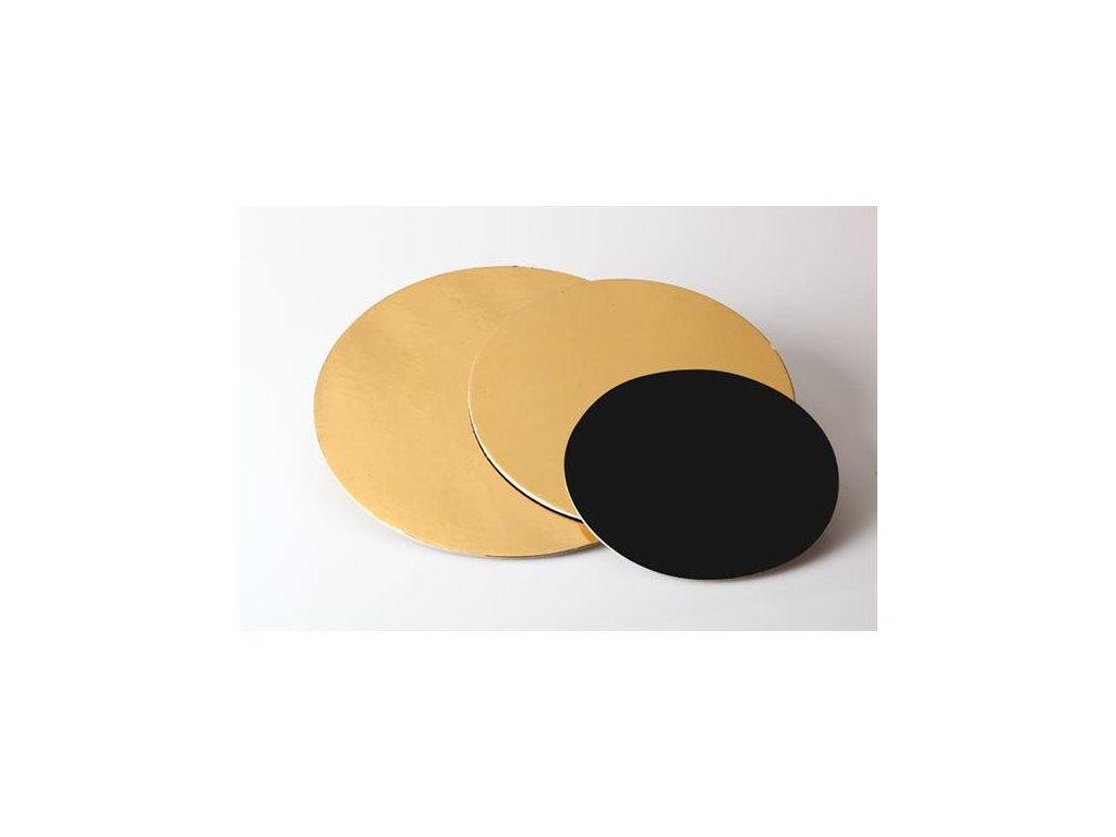 Pevná zlatočerná podložka, 3mm, pr. 16cm