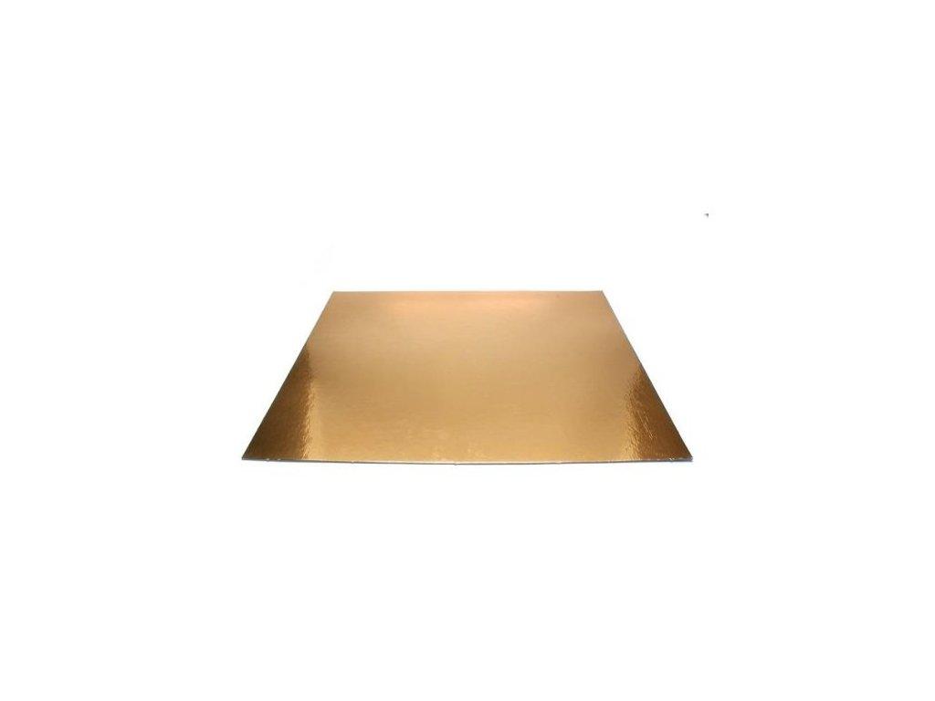 Pevná zlatá podložka, 3mm, 30x30cm