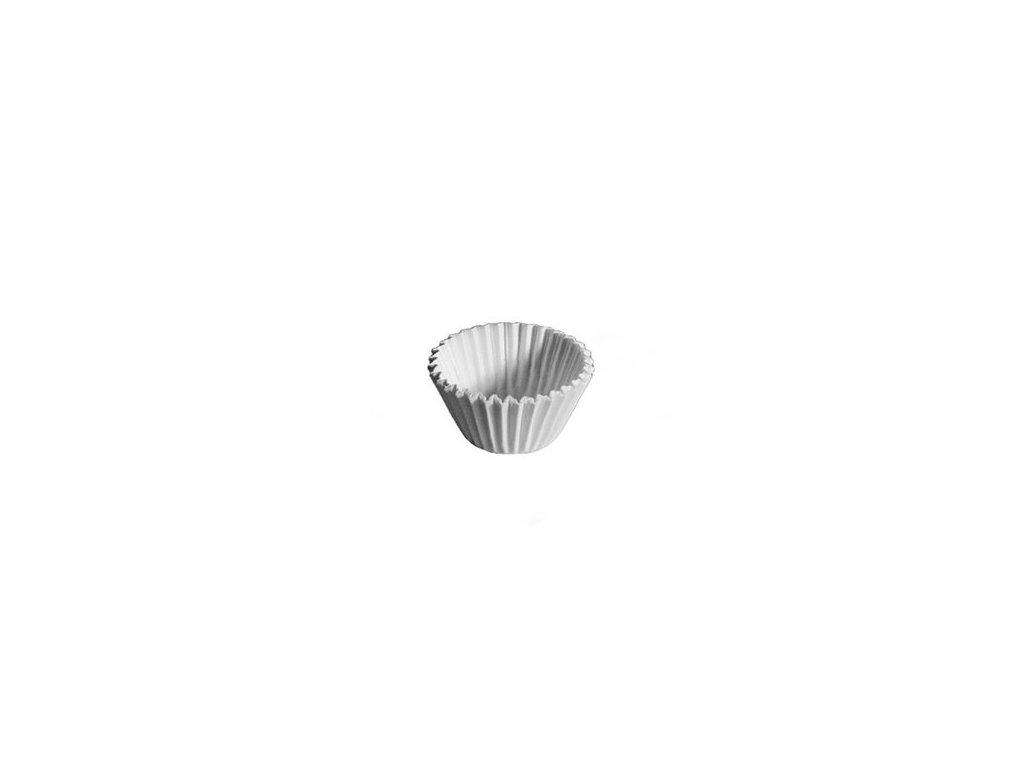 Cukrářské košíčky na pralinky 25x18mm, bílé Wimex, 200ks