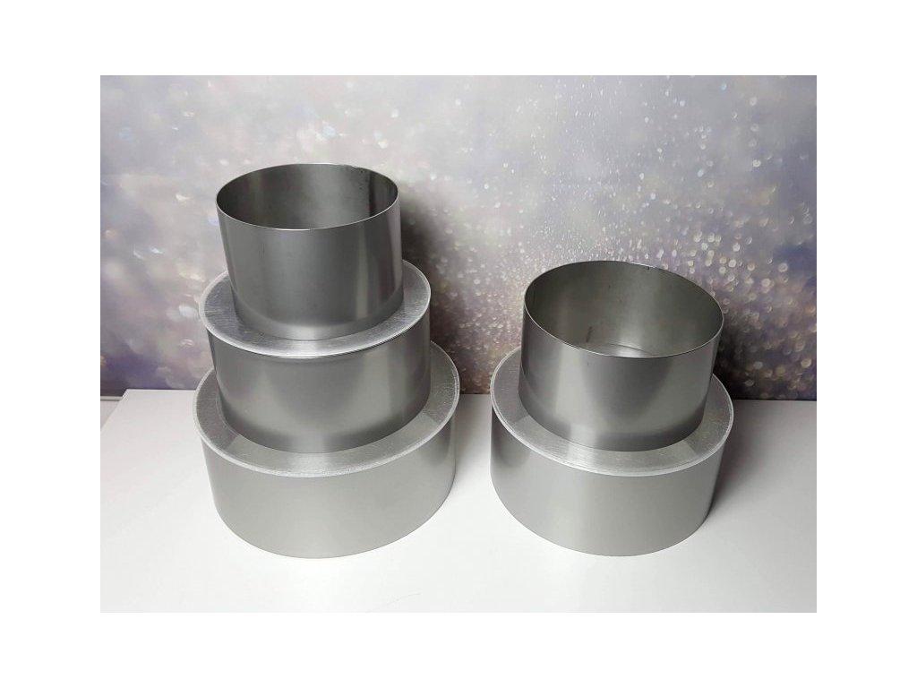 Sada - pevné formy kruhové (výška 10cm) + fólie 10cm