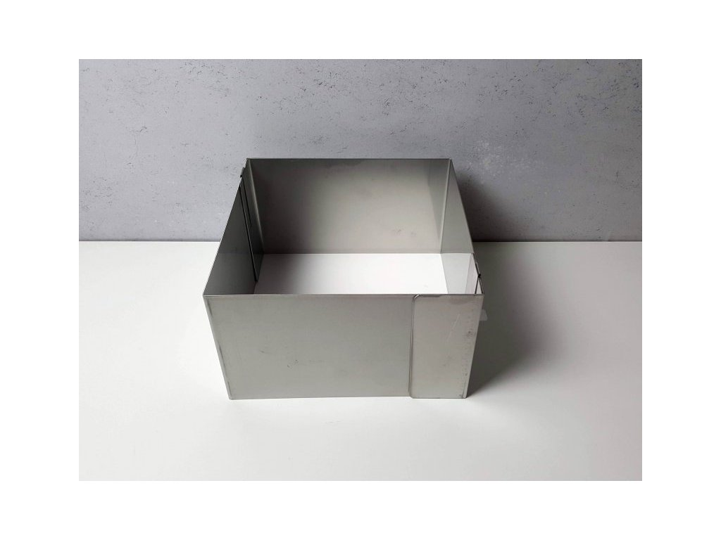 Pevná rozložitelná forma čtverec 20x20cm (výška 12cm)
