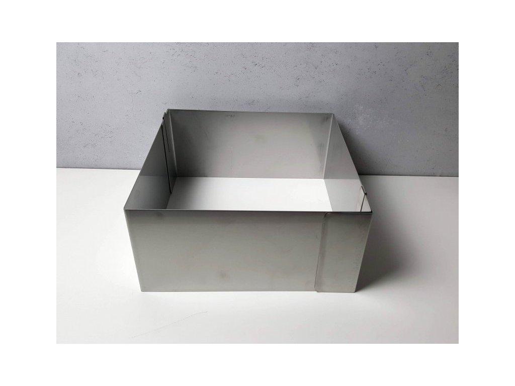 Pevná rozložitelná forma čtverec 25x25cm (výška 12cm)