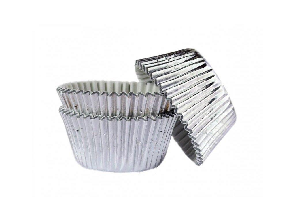 Cukrářské košíčky Silver - stříbrné 51x38mm, alobalové, 45ks, Doric
