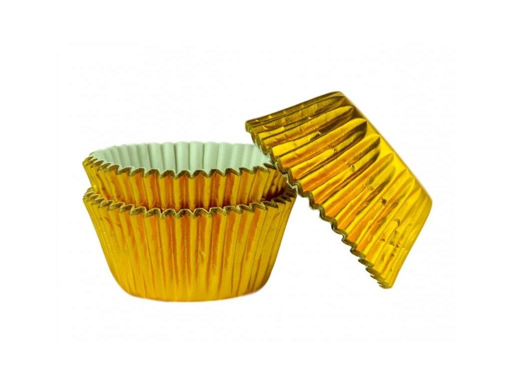 Cukrářské košíčky zlaté 53x38mm, alobalové, 45ks, Doric