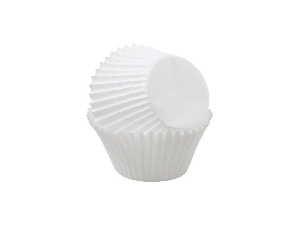 Cukrářské košíčky Wilton 50x30mm, bílé, 75ks