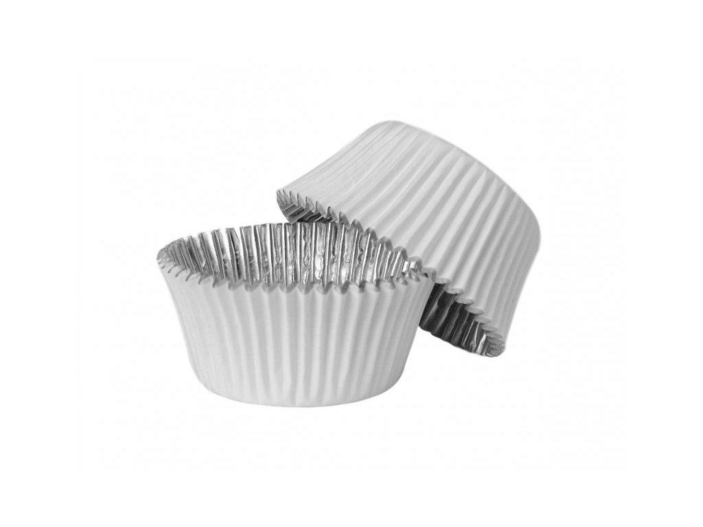Cukrářské košíčky bílé s alobalem uvnitř 50x38mm, 30ks, PME