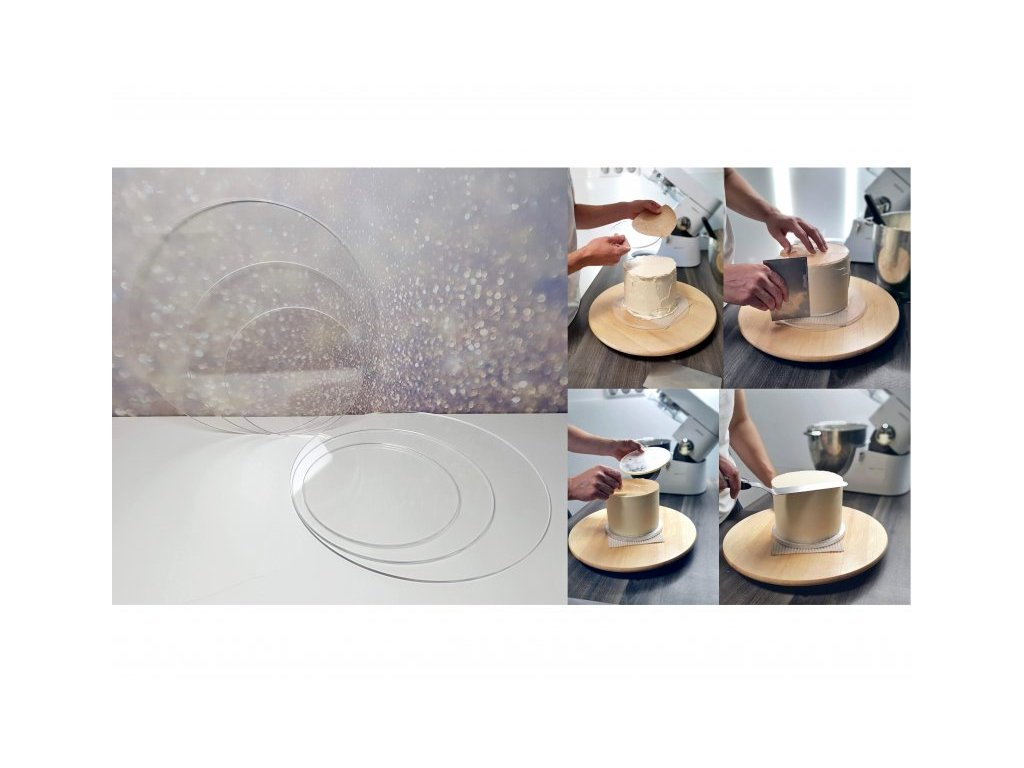 Plexi disky, 4mm, pr. 258mm, 2ks