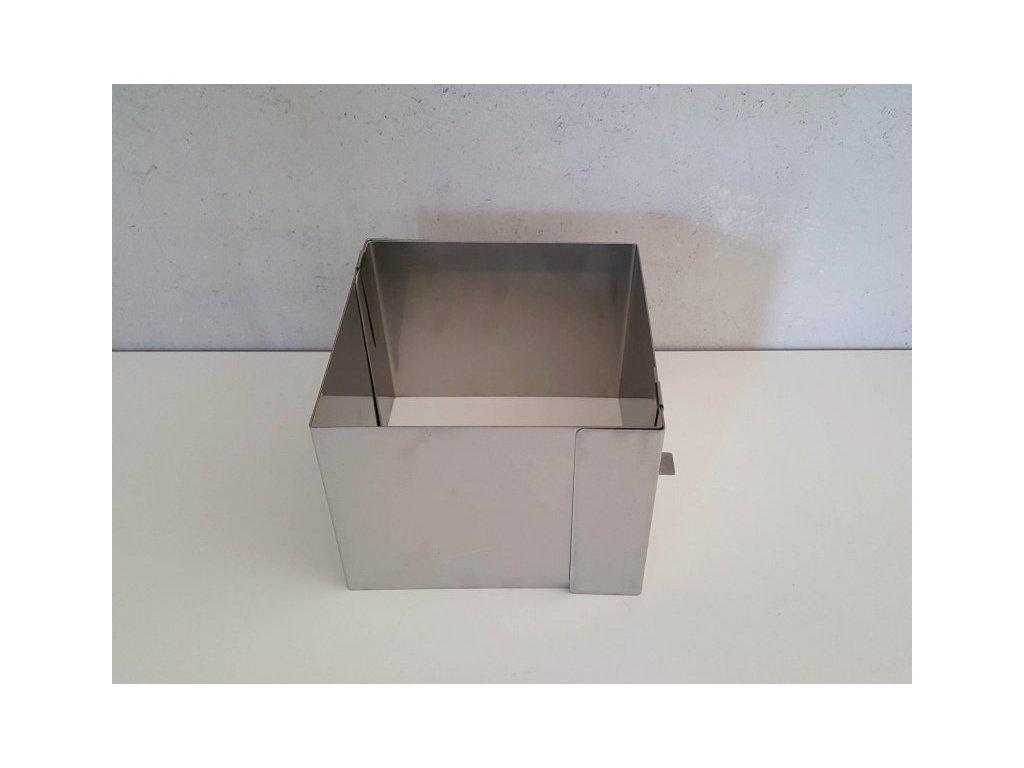 Pevná rozložitelná forma čtverec 15x15cm (výška 12cm)