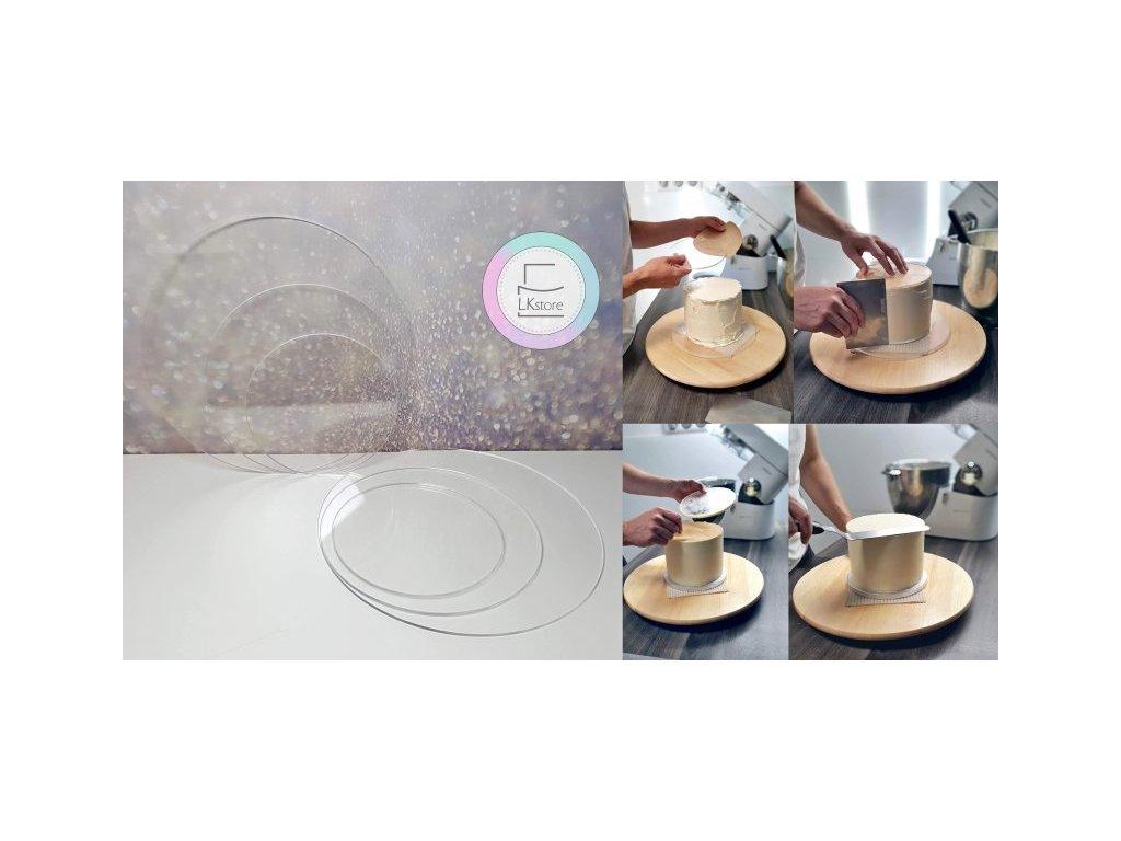 Plexi disky, 4mm, pr. 188mm, 2ks