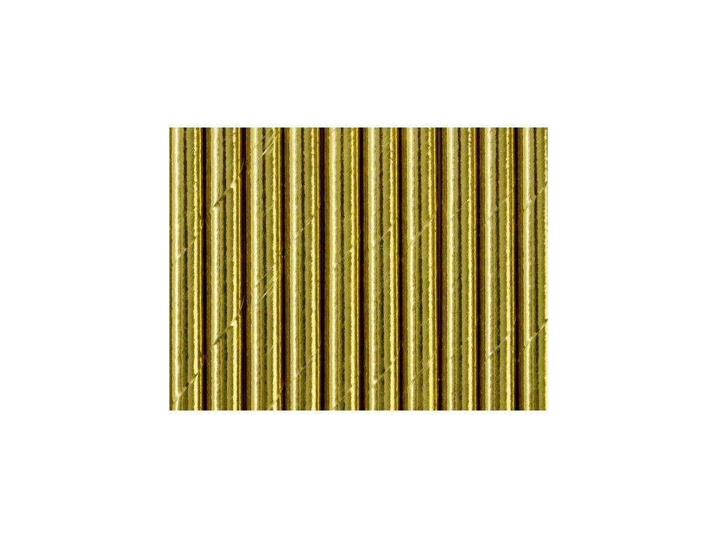 Papírová brčka zlatá 10ks