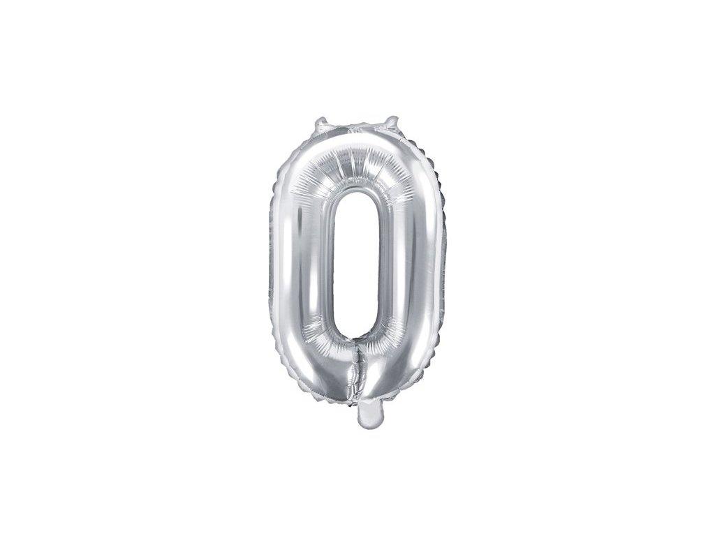 Balón fóliové číslo stříbrné 0