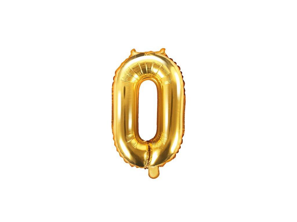Balón fóliové číslo zlaté 0