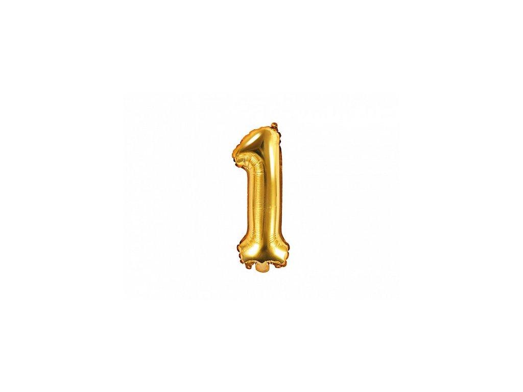 Balón fóliové číslo zlaté 1