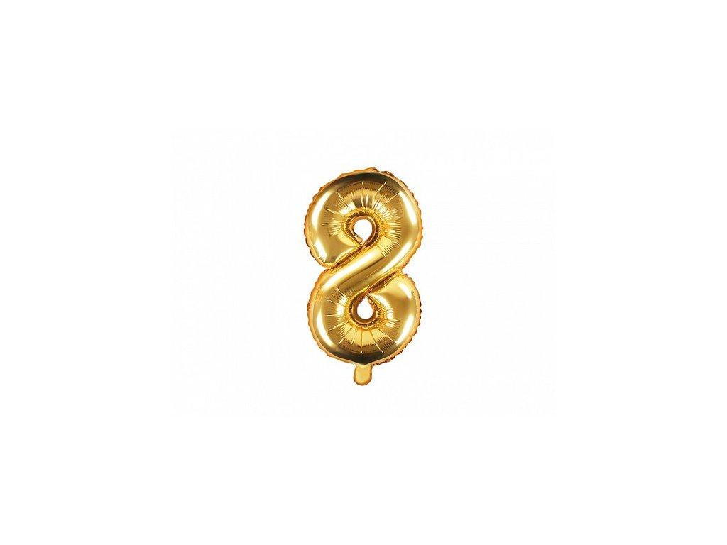 Balón fóliové číslo zlaté 8