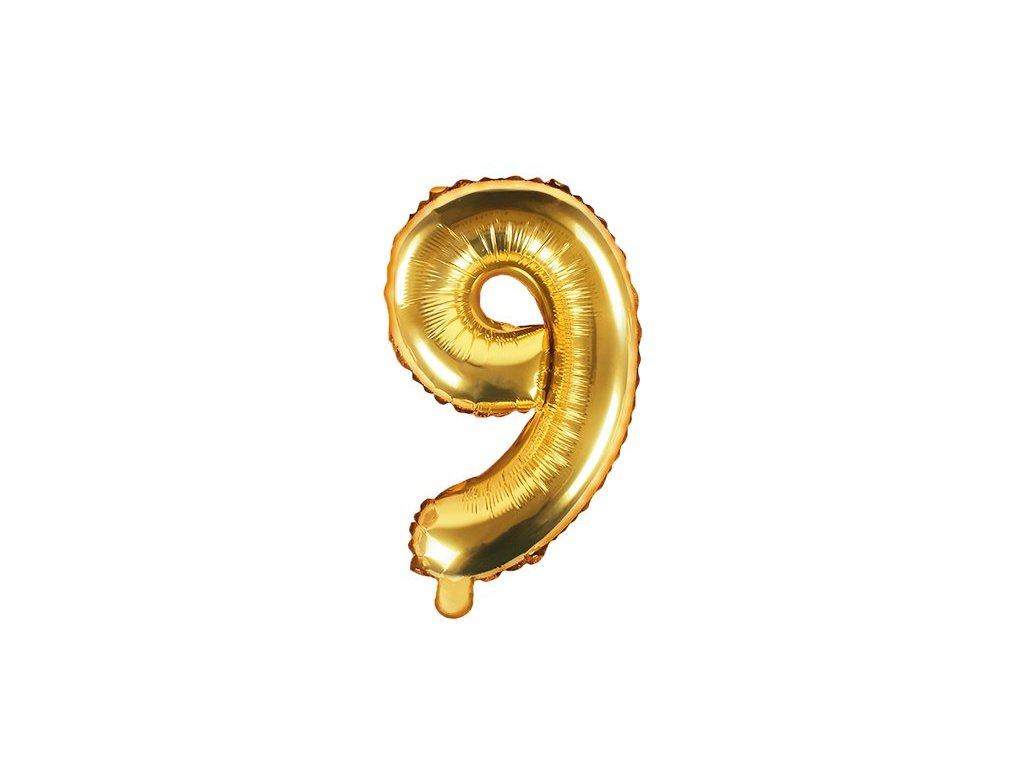 Balón fóliové číslo zlaté 9