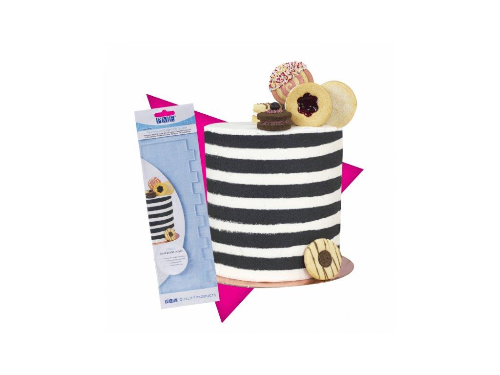 Cukrářská karta PME se vzorem Stripes