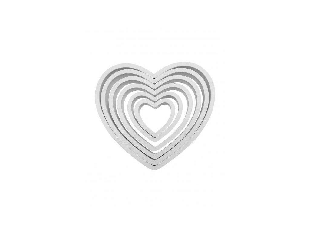 Vykrajovátka srdce velké, sada 6ks, PME