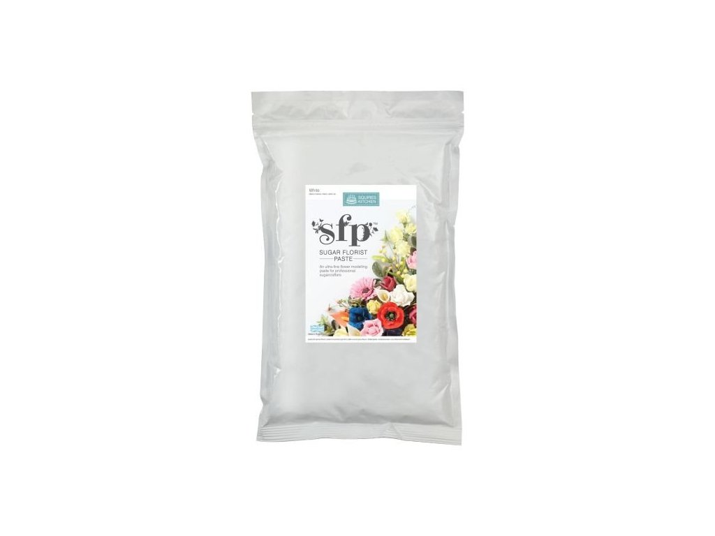 Squires Kitchen White Florist Paste Modelovací hmota SFP 1kg