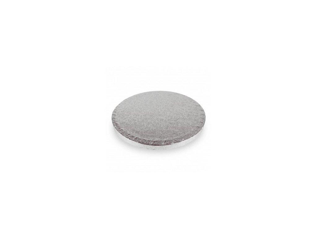"Pevná stříbrná podložka, 12mm, pr. 23cm (9"")"