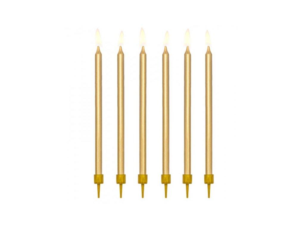 Svíčky narozeninové zlaté 12,5cm, PartyDeco