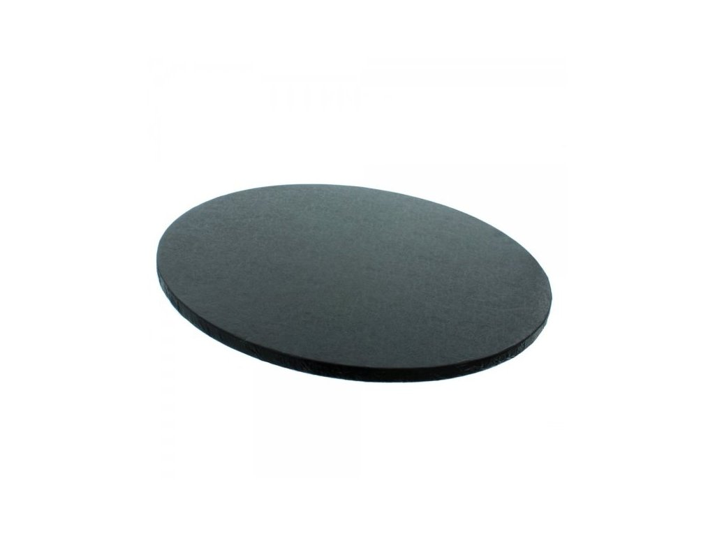 """Pevná černá podložka, 12mm, pr. 25,5cm (10"""")"""