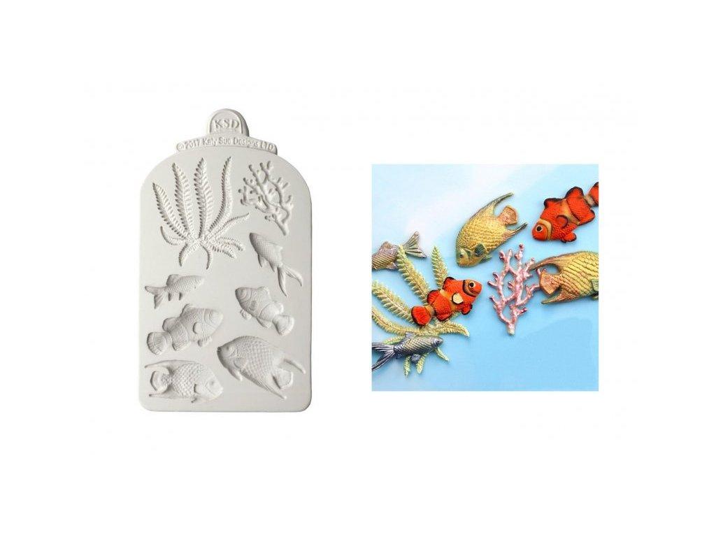 Katy Sue silikonová formička Fish, Seaweed & Coral
