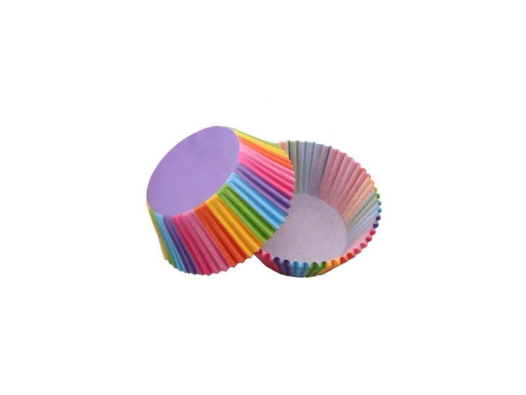 Cukrářské košíčky 50x32mm, duhové, 50ks