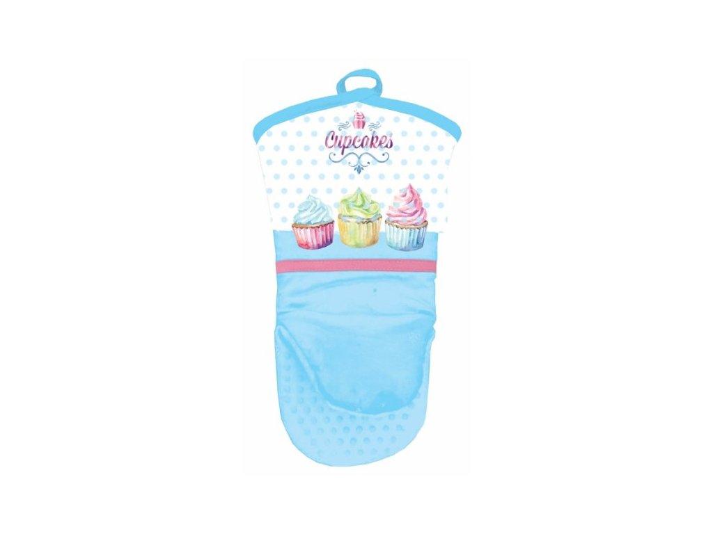 Kuchyňská rukavice se silikonovou dlaní Cupcakes, 1ks