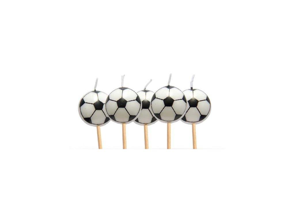Dortová svíčka fotbalový míč, 5 ks