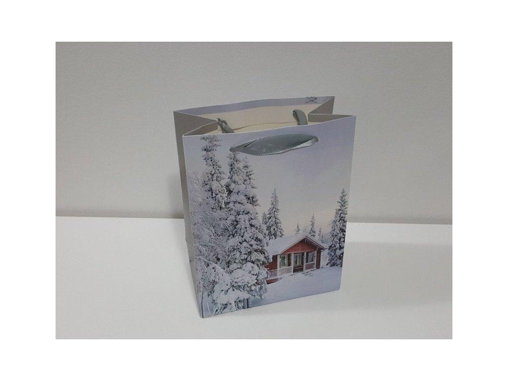 Dárková taška M, Vánoční I, 23x18x10cm