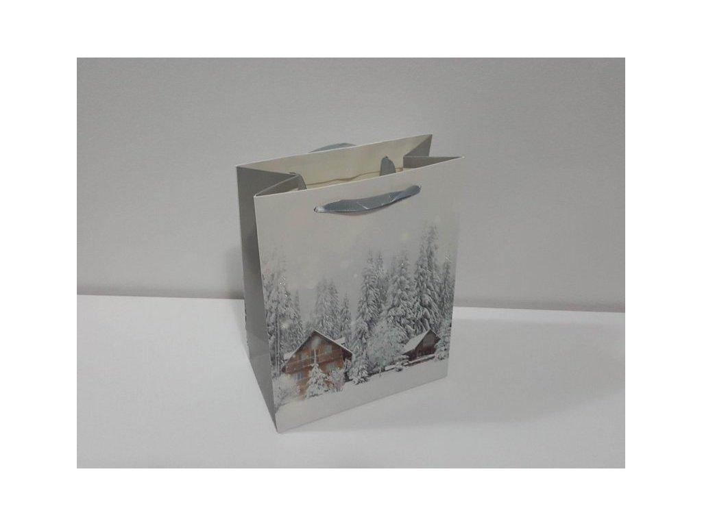 Dárková taška M, Vánoční IV, 23x18x10cm