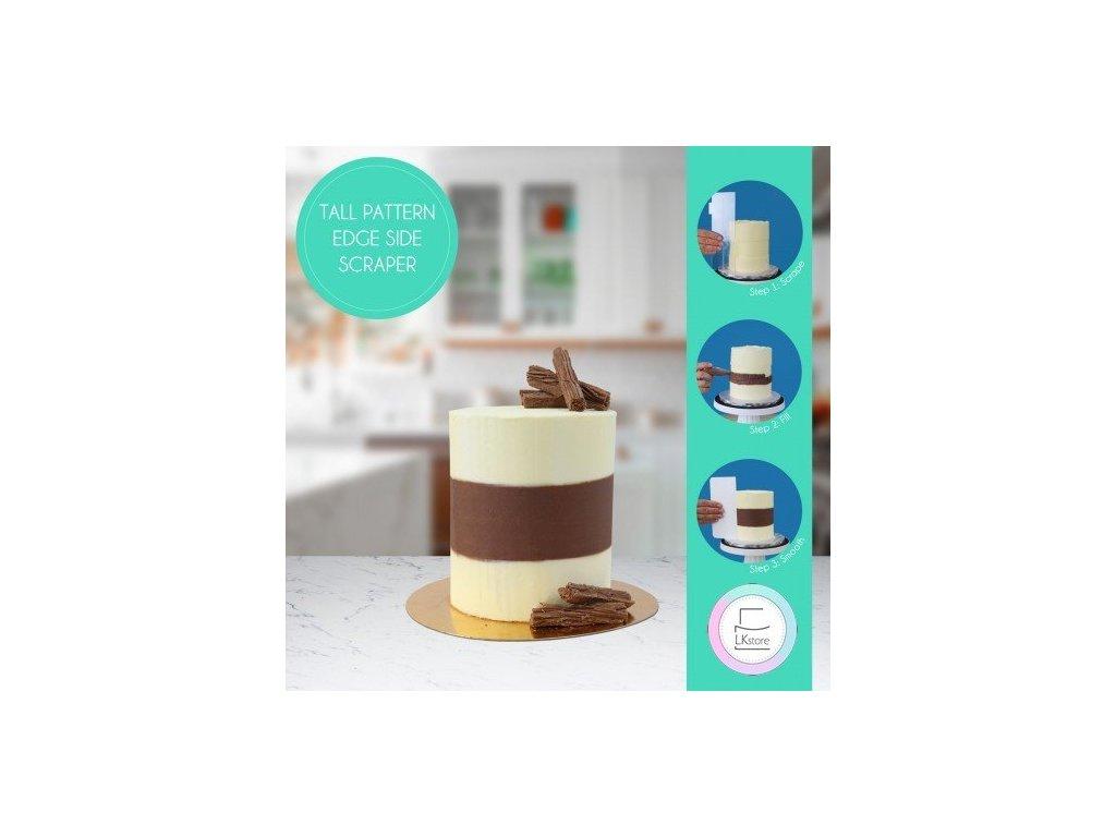 Cukrářská karta PME se vzorem Latitude Ring 10-15 cm