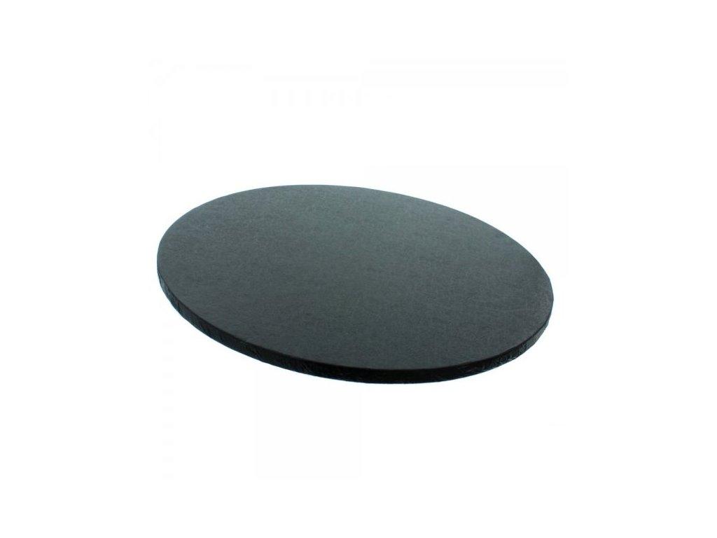 """Pevná černá podložka, 12mm, pr. 20cm (8"""")"""