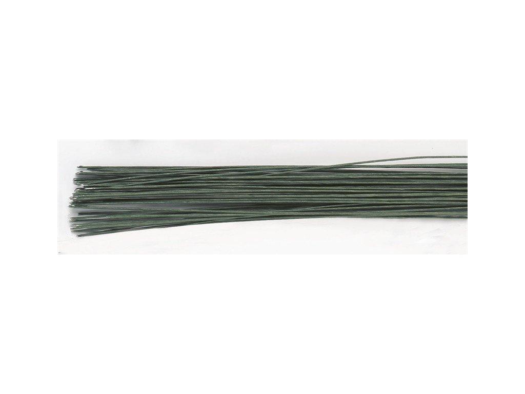 Aranžovací drát tmavě zelený č.28, Culpitt, 50ks