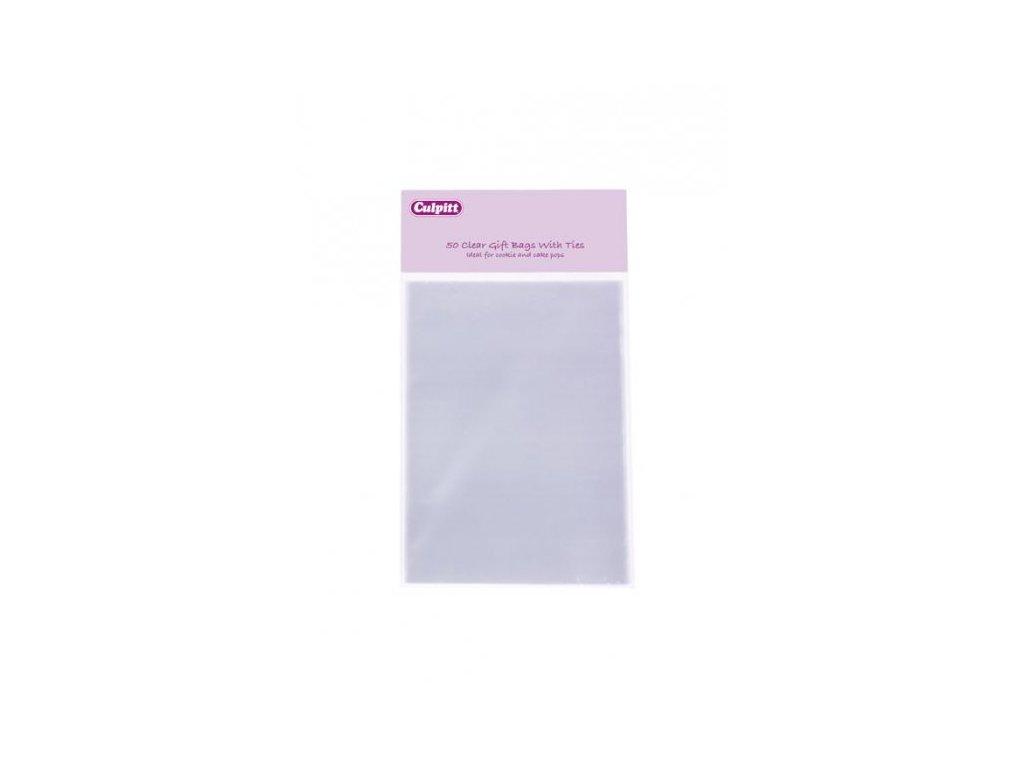 Sáčky celofánové se stříbrnou páskou 10x15cm, 50ks, Culpitt