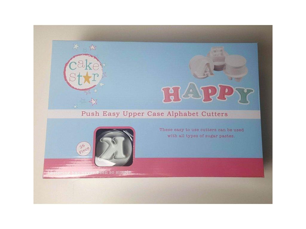 "Vypichovače ""velká abeceda"" HAPPY 5cm Cake Star"