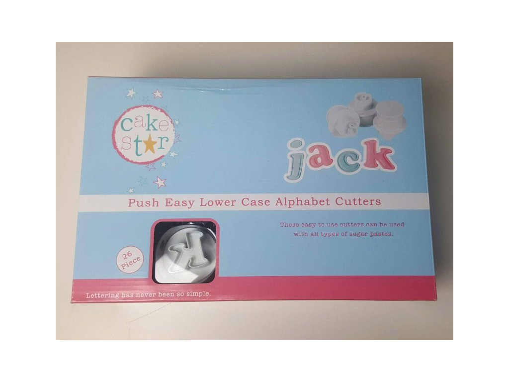 """Vypichovače """"malá abeceda"""" JACK 4,5cm Cake Star"""