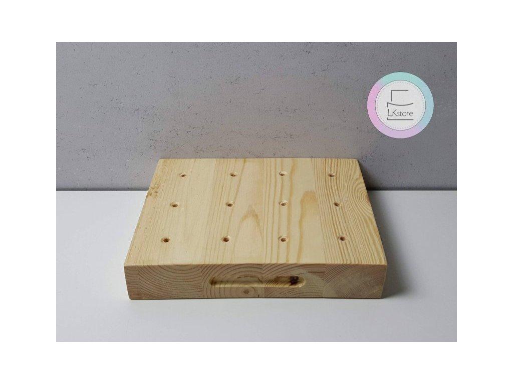 Dřevěný stojan na lízátka přírodní, 21x16cm