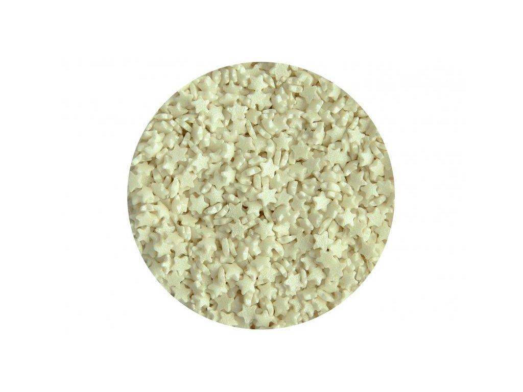 Cukrové zdobení Scrumptious, Mini Stars Pearl 60g