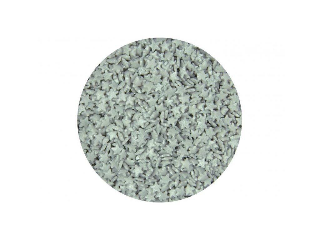 Cukrové zdobení Scrumptious, Mini Stars Silver 60g