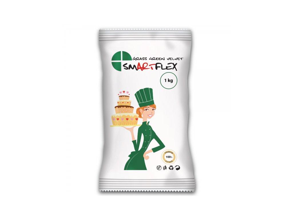 Smartflex Velvet Vanilka, Grass Green - tmavě zelený 1kg