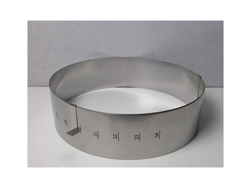 Nastavitelná forma kruhová 26-34 cm (výška 8cm)