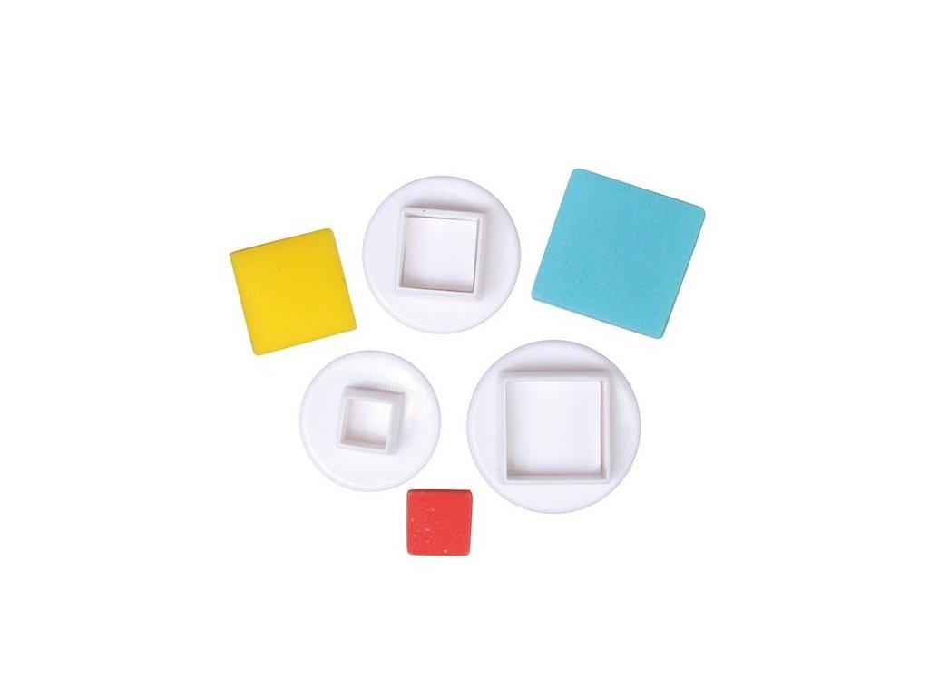 Vypichovače Square - čtverce 3ks, Cake Star