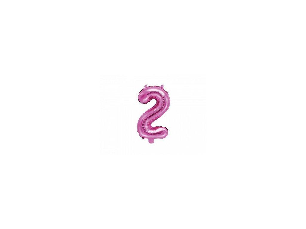 Balón fóliové číslo růžové 2