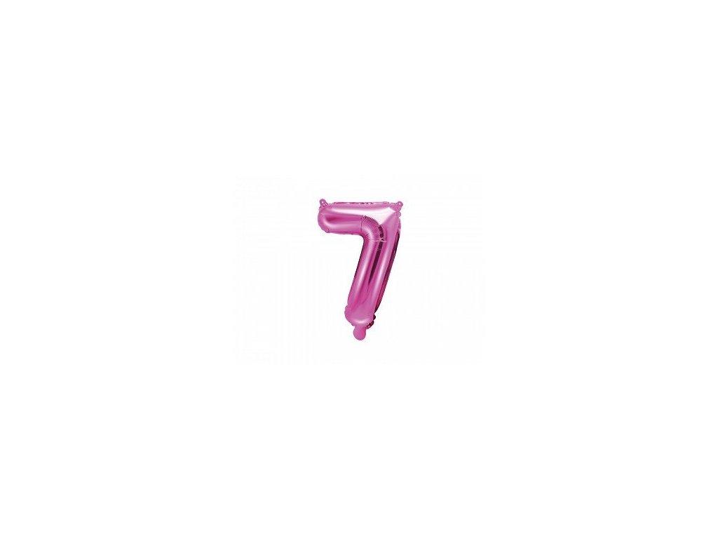 Balón fóliové číslo růžové 7