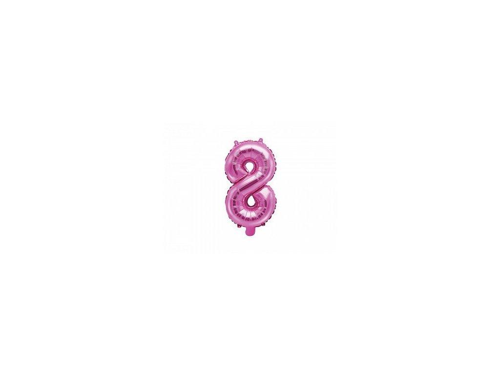 Balón fóliové číslo růžové 8