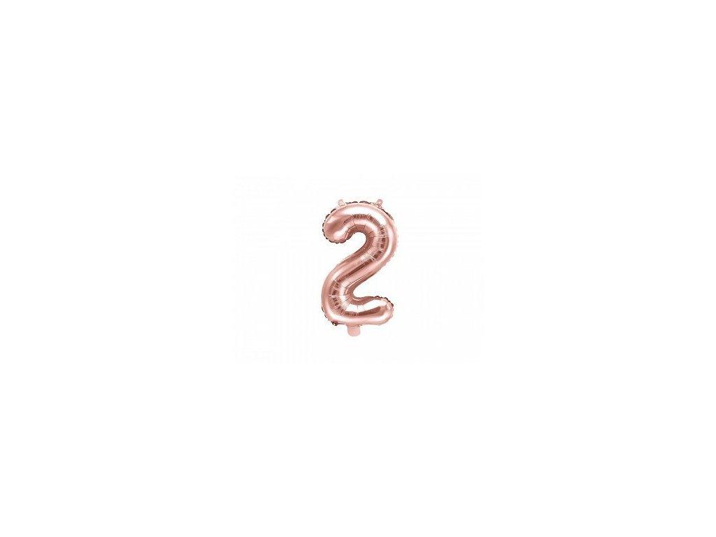 Balón fóliové číslo rose gold 2